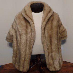 VTG Faux Fur Cape - Made in U.S.A.
